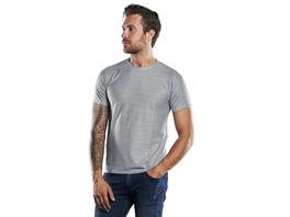 Rundhals T-Shirt mit besonderer Warenstruktur