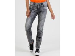 Jeans mit Schriftendruck
